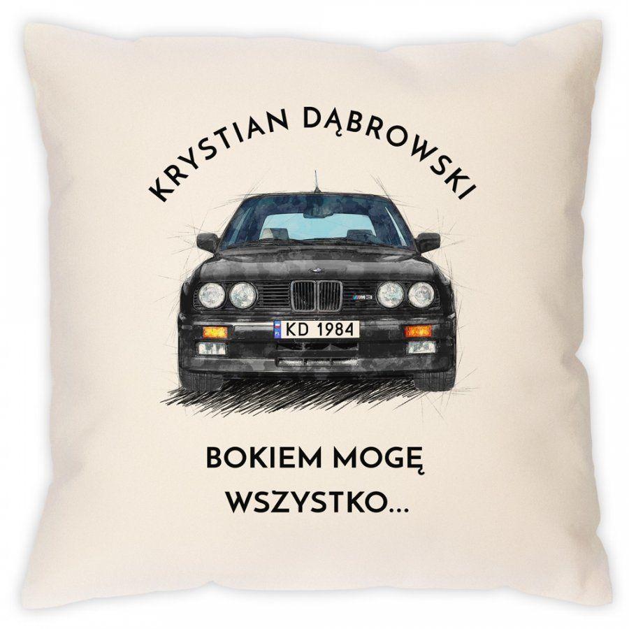 Poduszka z nadrukiem dla fana BMW M3 E30