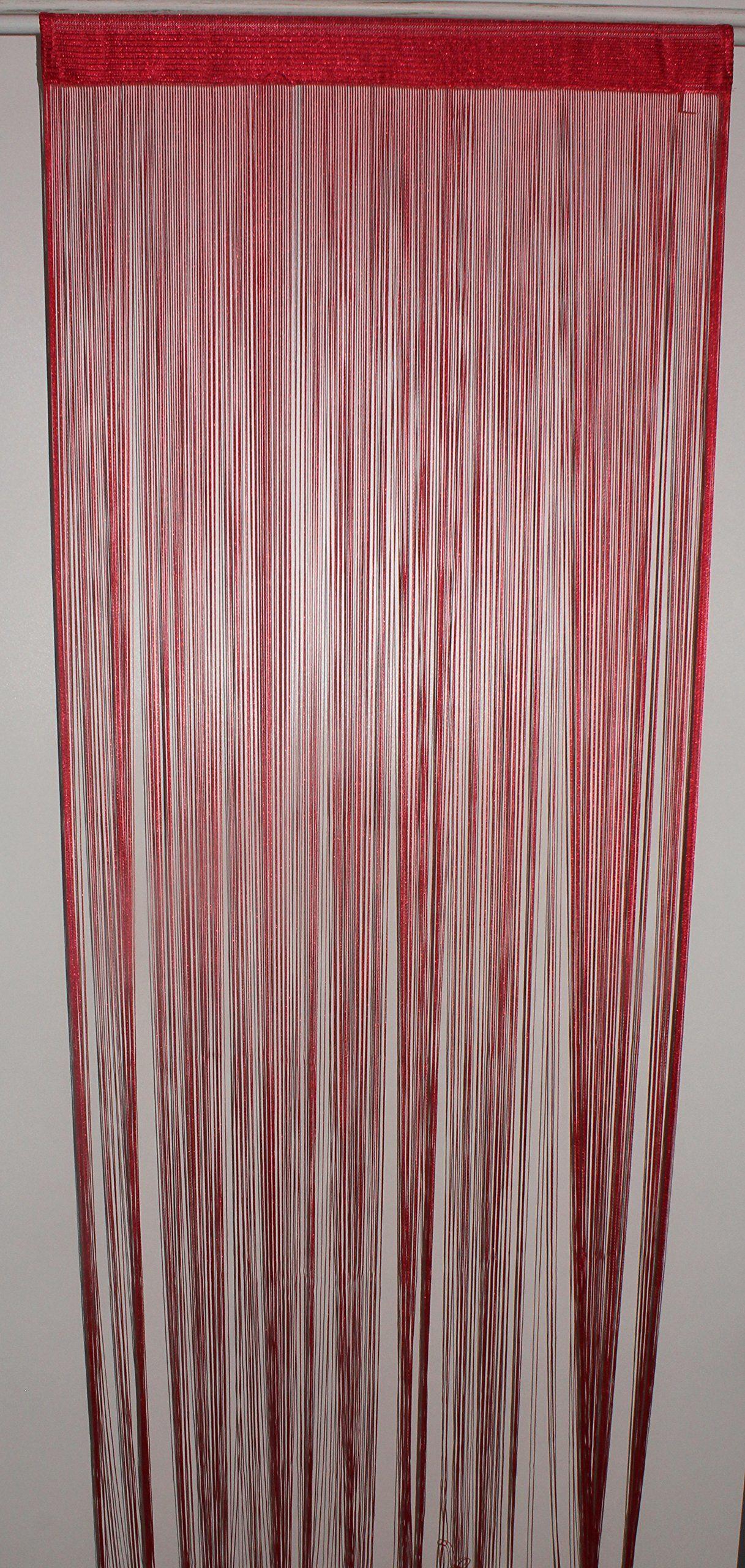 HomeMaison Zasłona sznurkowa, czerwona, 90 x 240 cm