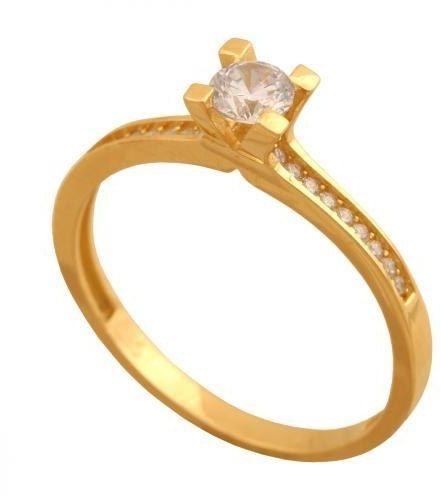 Złoty pierścionek zaręczynowy Pn696