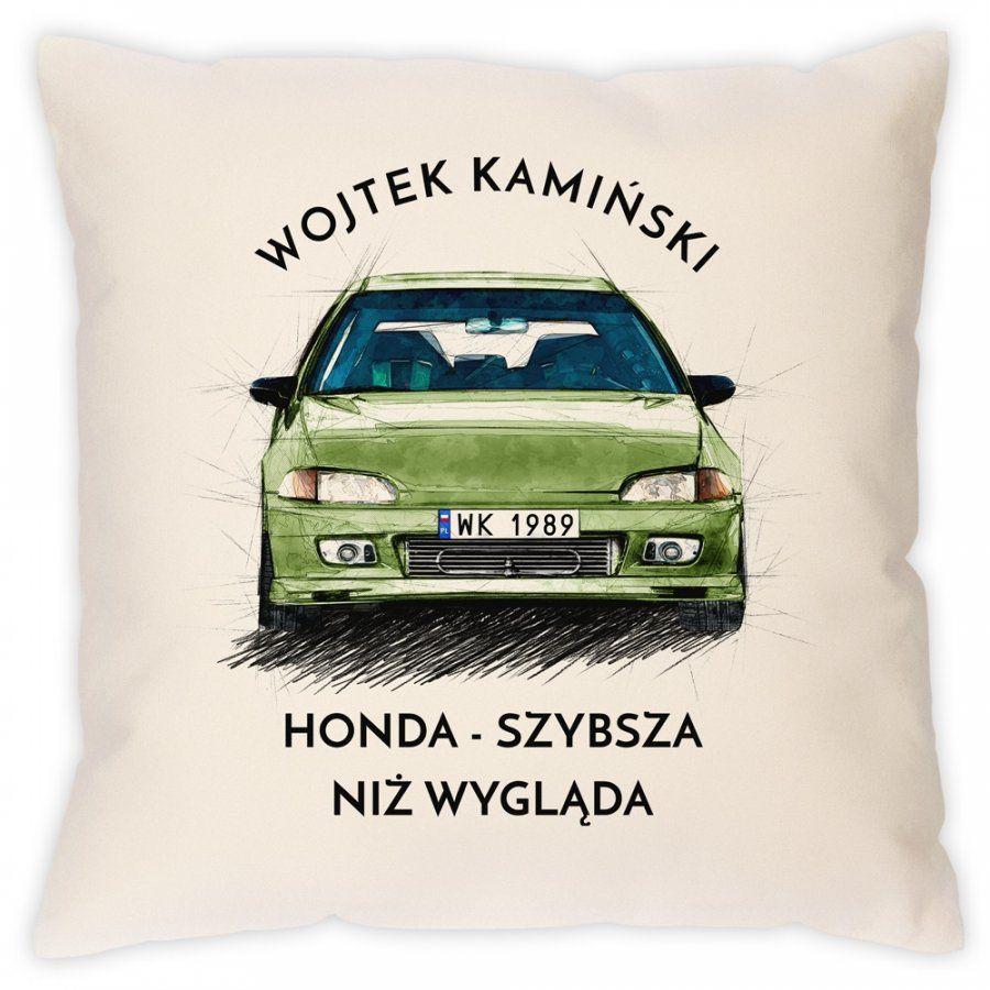 Poduszka z nadrukiem dla fana Honda Civic V gen