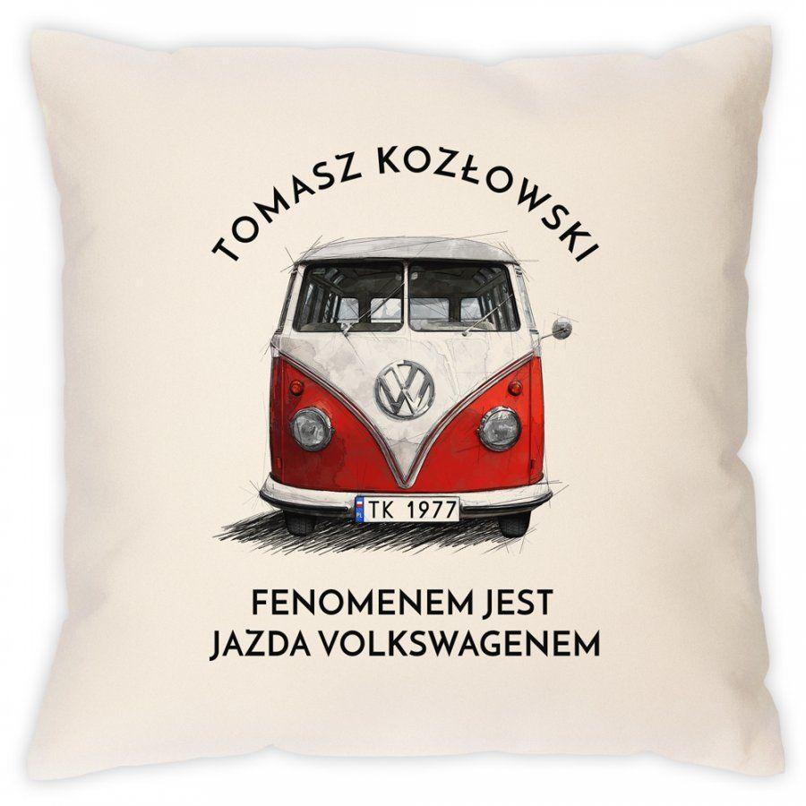 Poduszka z nadrukiem fana VW Transporter T1 Ogórek