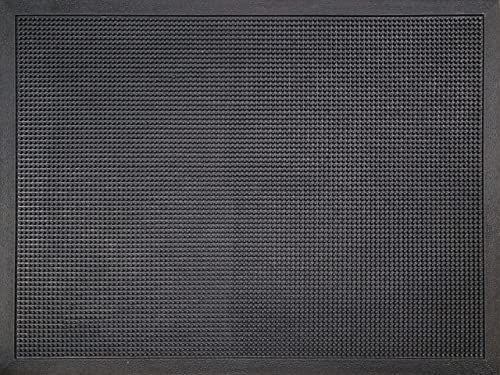 ID M51, matowa_lekka wycieraczka gumowe włosie czarne 80 x 60 x 1,6 cm