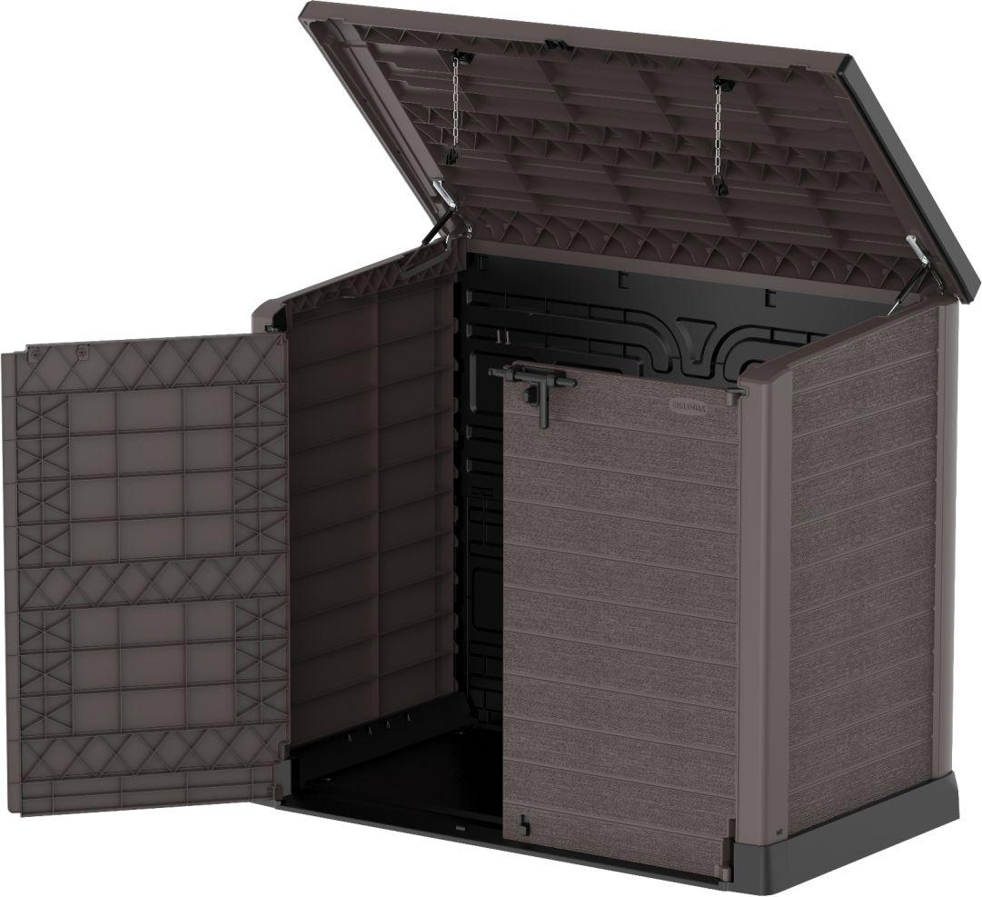DURAMAX Plastikowa skrzynia ogrodowa StoreAway 145 x 125 x 82,5 cm, 1200 l - brązowa DURAMAX 86631