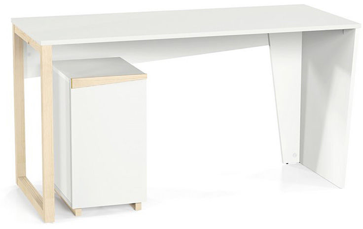 Skandynawskie biurko Faro - białe