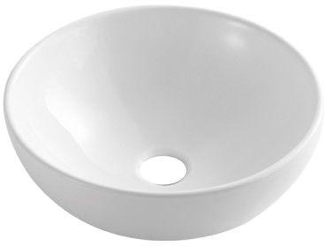 Umywalka ceramiczna 40x40cm nablatowa biała, MISA