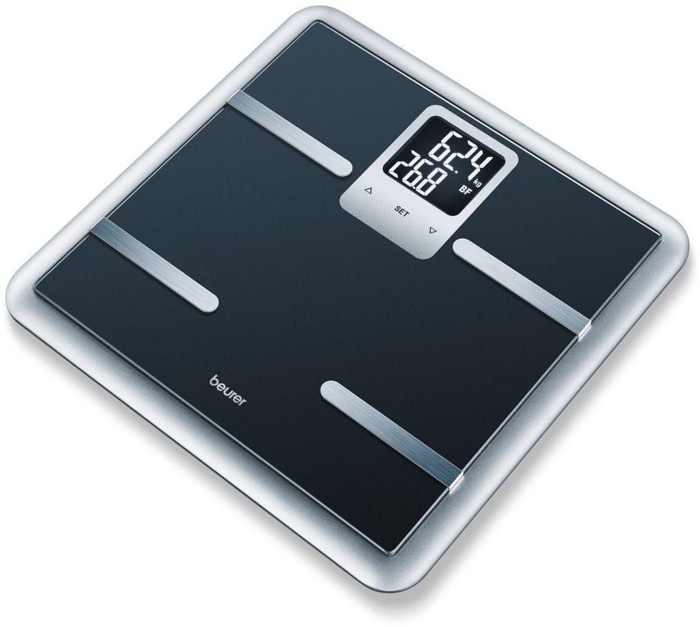 BEURER BG 40 Waga diagnostyczna z analizą składu ciała, elegancka czerń, Bluetooth