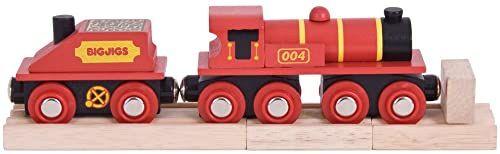 Bigjigs Rail Duże czerwone lokomotywy