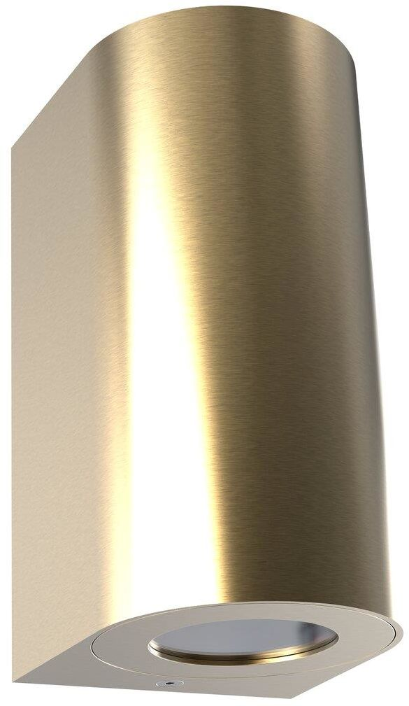 Kinkiet zewnętrzny Canto Maxi 2 49721035 Nordlux mosiężna oprawa ścienna w nowoczesnym stylu