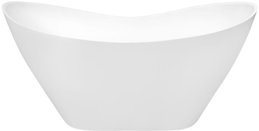 Besco wanna wolnostojąca Viya Glam Grafit 160x70 cm VIYA160 biało-grafitowa+ syfon klik-klak
