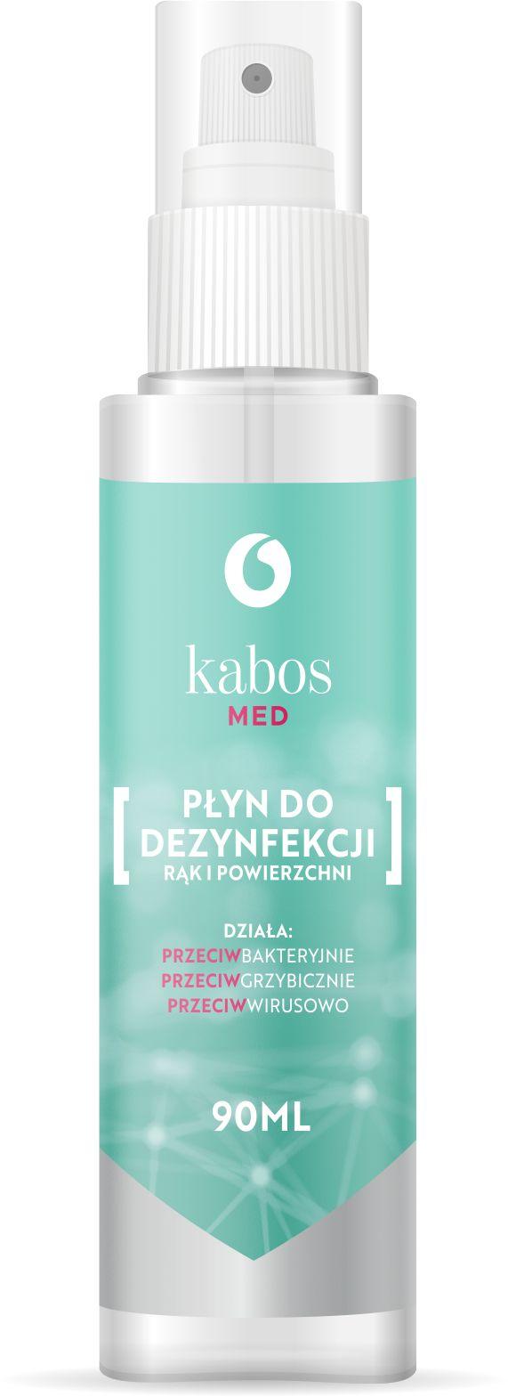 Kabos Med Płyn do dezynfekcji rąk i powierzchni 90ml