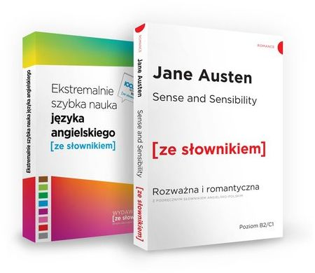 Sense and Sensibility / Ekstremalnie szybka nauka języka angielskiego ZAKŁADKA DO KSIĄŻEK GRATIS DO KAŻDEGO ZAMÓWIENIA