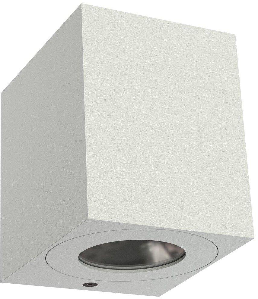 Kinkiet zewnętrzny Canto Kubi 2 49711001 Nordlux biała oprawa ścienna w kształcie sześcianu