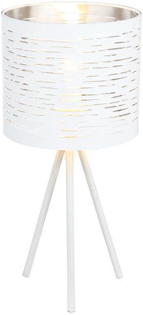 Globo BARCA 15341T lampa stołowa biała biały chrom 1xE14 25W 17cm