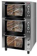 Piekarnik elektryczny z termoobiegiem 3-komorowy KROMET 000.PE-3/T