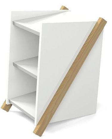 Skandynawska szafka Corto - biała