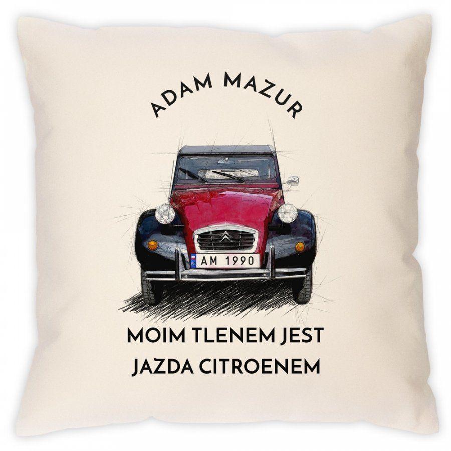 Poduszka z nadrukiem dla fana Citroen 2CV