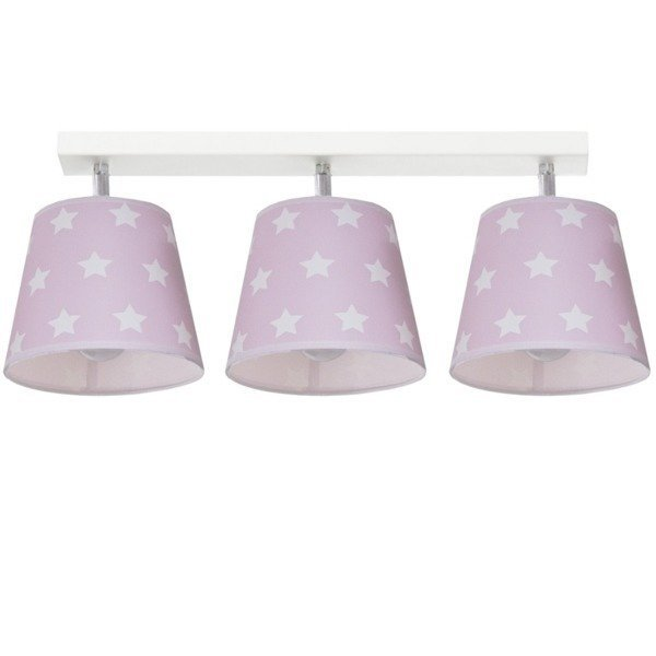 Różowa lampa sufitowa Stars III
