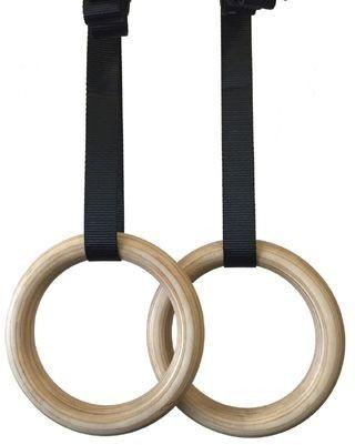 Kółka gimnastyczne drewniane 268GRW TKO