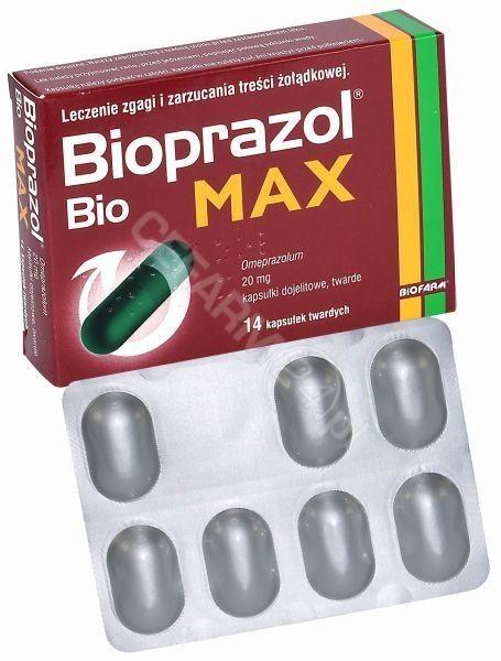 Bioprazol Bio Max 20mg, 14 kapsułek