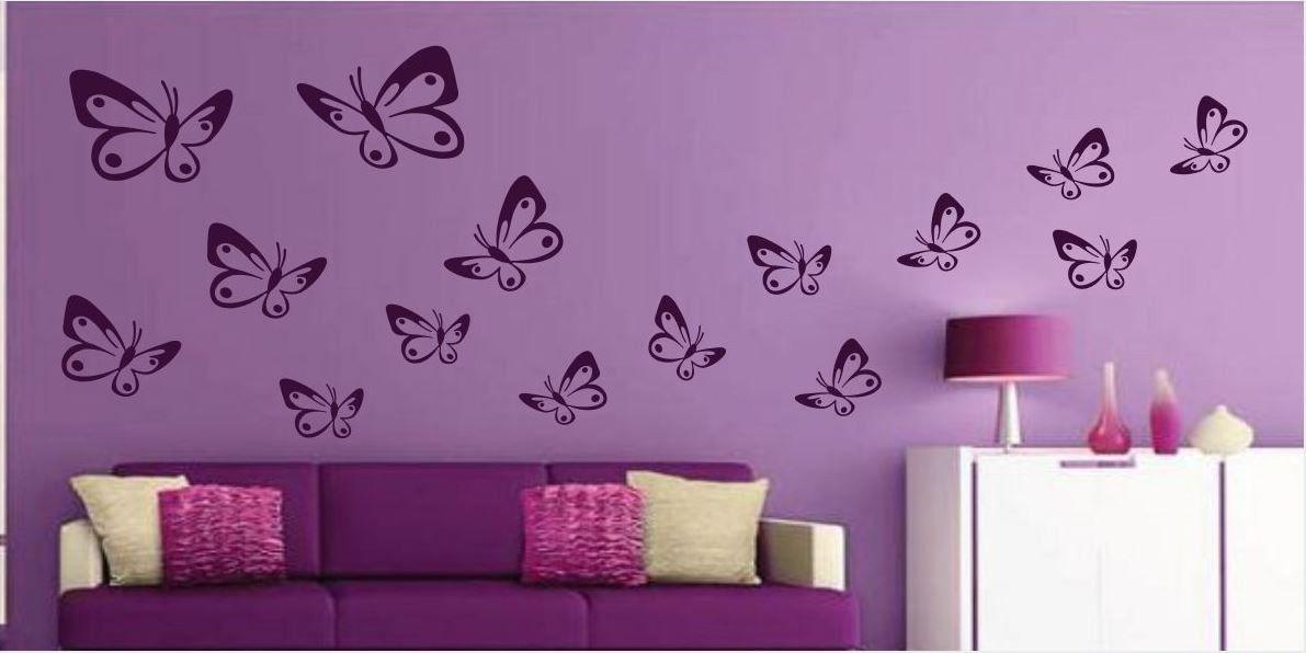 Naklejka Zestaw Motylków