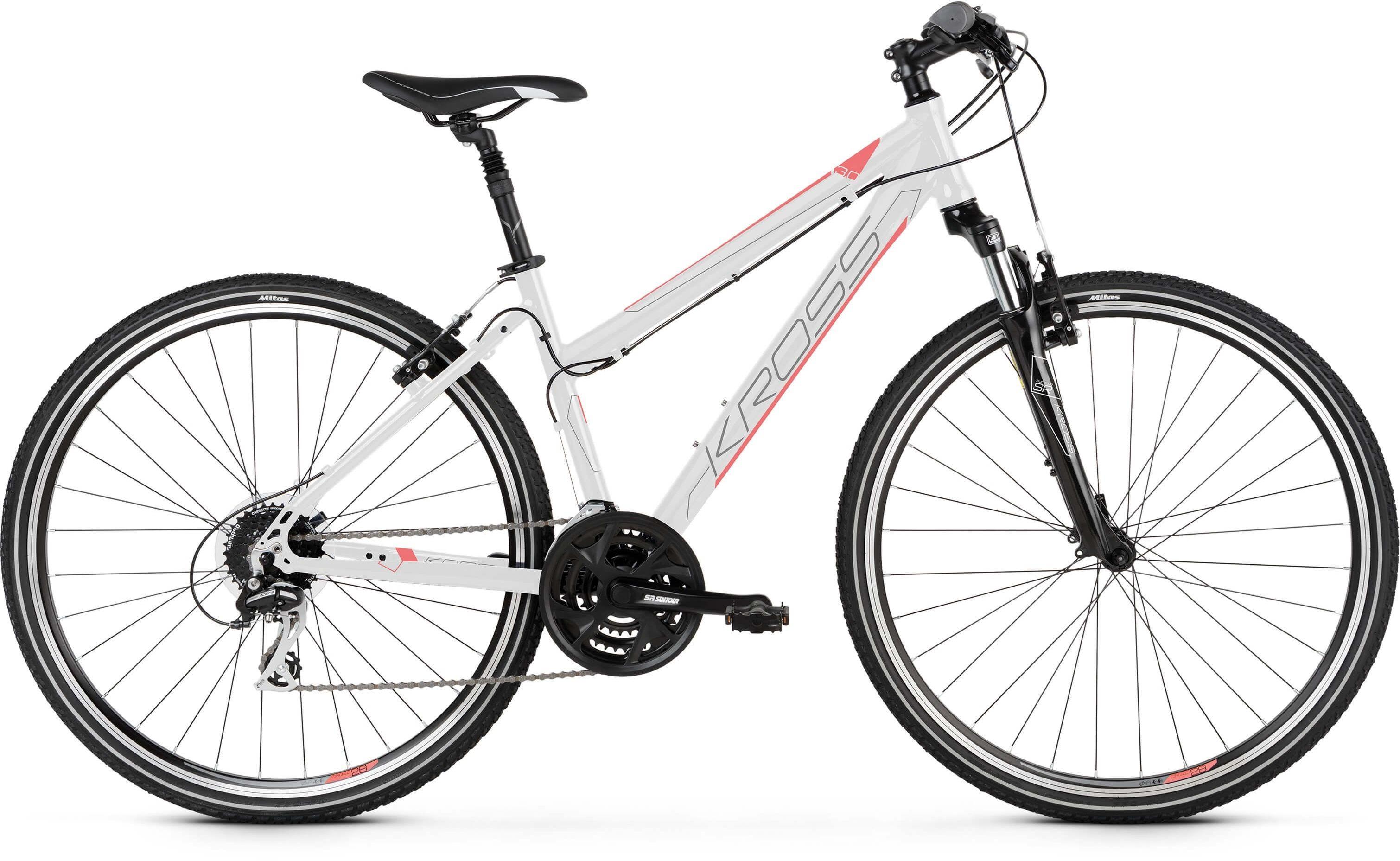"""Rower Kross EVADO 3.0 D biały 28"""" 2021"""
