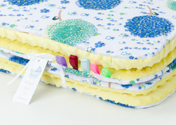 MAMO-TATO Kocyk Minky dla dzieci 100x135 Dmuchawce chaber / żółty