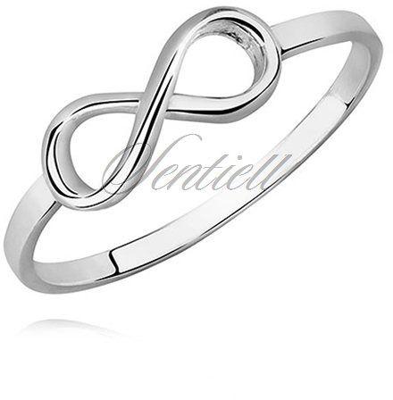 Srebrny pierścionek pr.925 wysoki połysk - nieskończoność