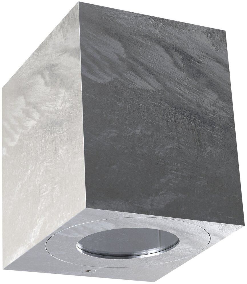 Kinkiet zewnętrzny Canto Kubi 2 49711031 Nordlux ocynkowana oprawa ścienna w kształcie sześcianu