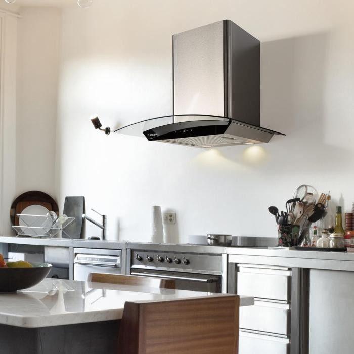Klarstein Eclipse, okap kuchenny, 3 stopnie mocy, 600 m/h, kolor czarny