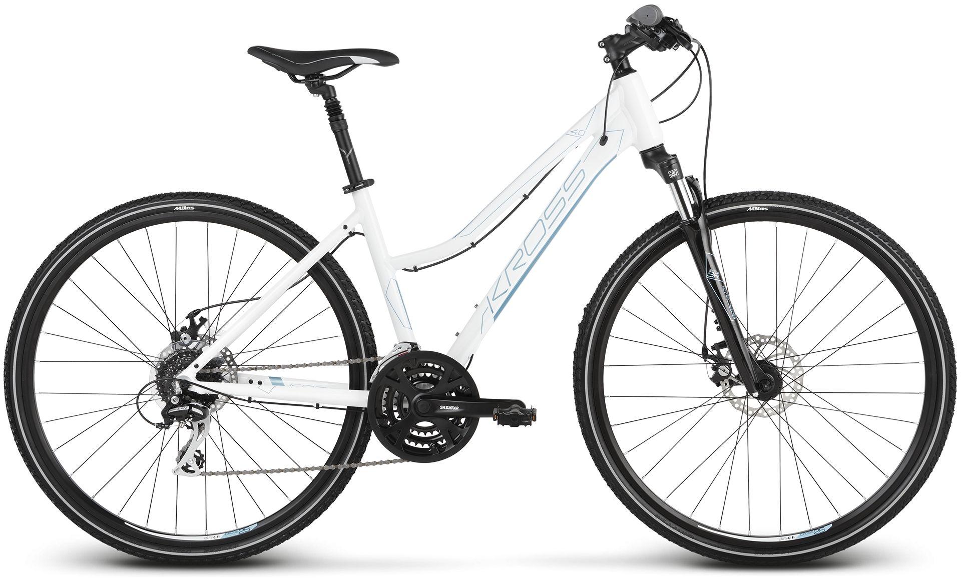 """Rower Kross EVADO 4.0 D biały 28"""" 2021"""
