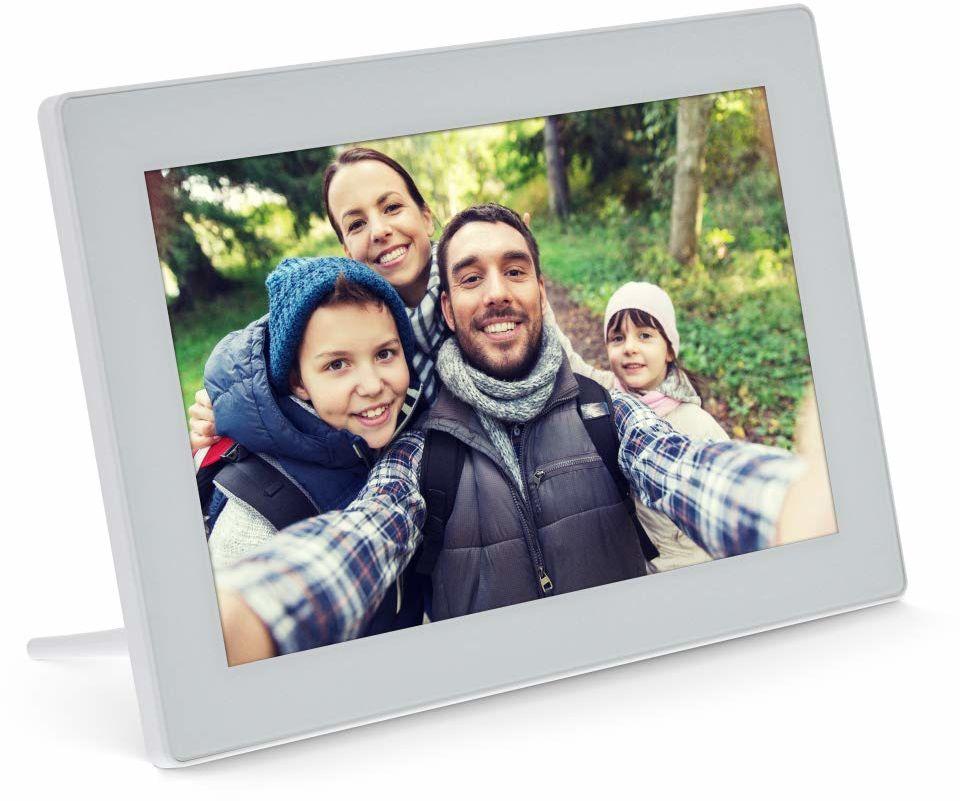 """""""InLine , cyfrowa ramka na zdjęcia WiFi WiFi, 10,1"""", 1280x800 16:9 LCD IPS, ekran dotykowy, Frameo APP, biała"""", 55821W"""