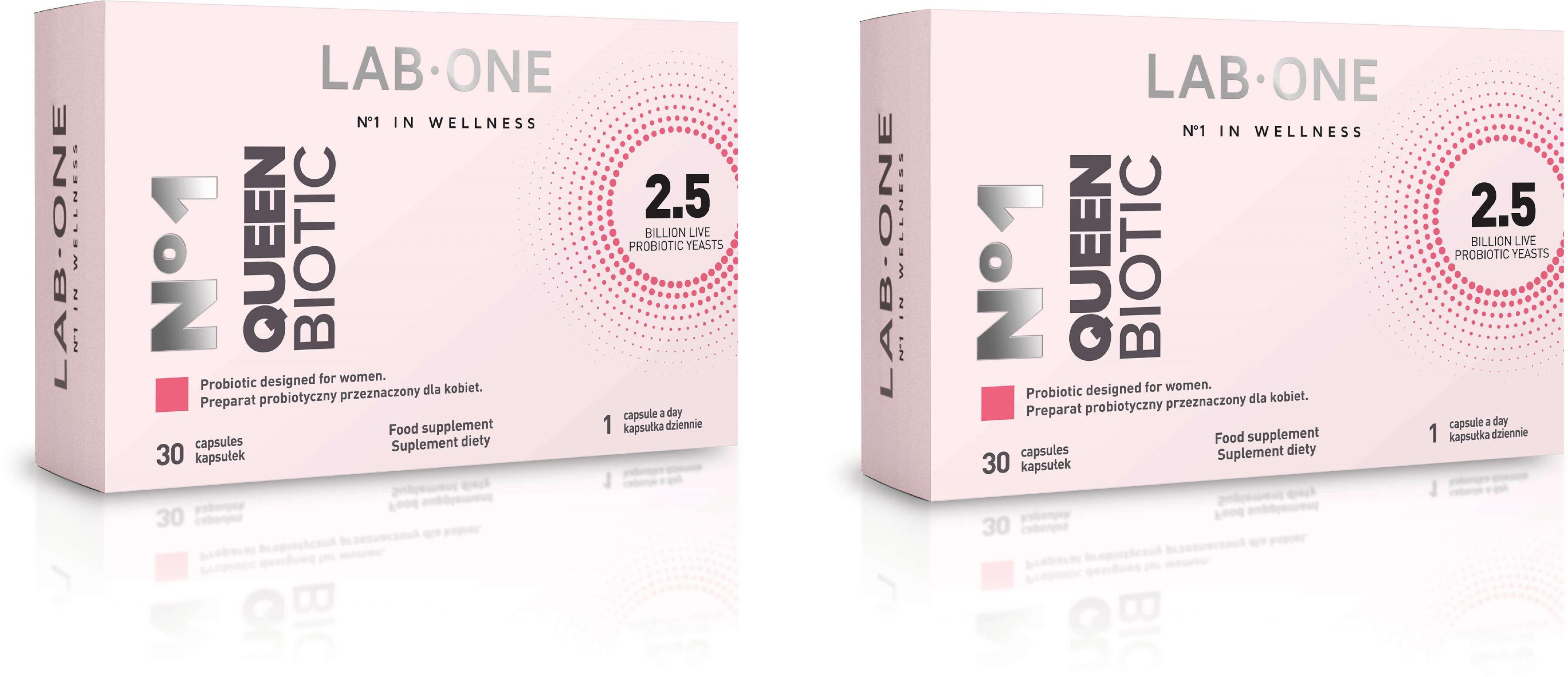 LAB ONE N1 QueenBiotic (Probiotyk dla Kobiet) 2 x 30 Kapsułek