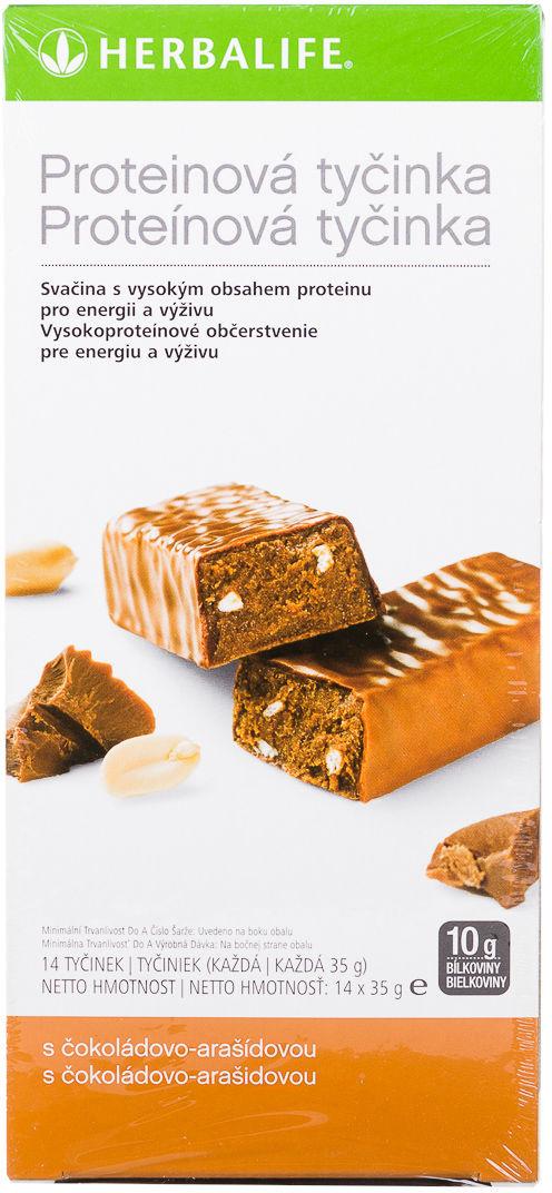 Baton proteinowy - 14 batonów x 35 g czekoladowo-orzechowy