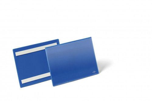 Kieszeń magazynowa samoprzylepna A5 pozioma DURABLE niebieska 50szt. 1795 07