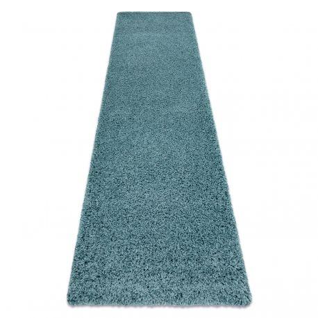 Dywan, Chodnik SOFFI shaggy 5cm niebieski - do kuchni, przedpokoju, na korytarz 60x100 cm