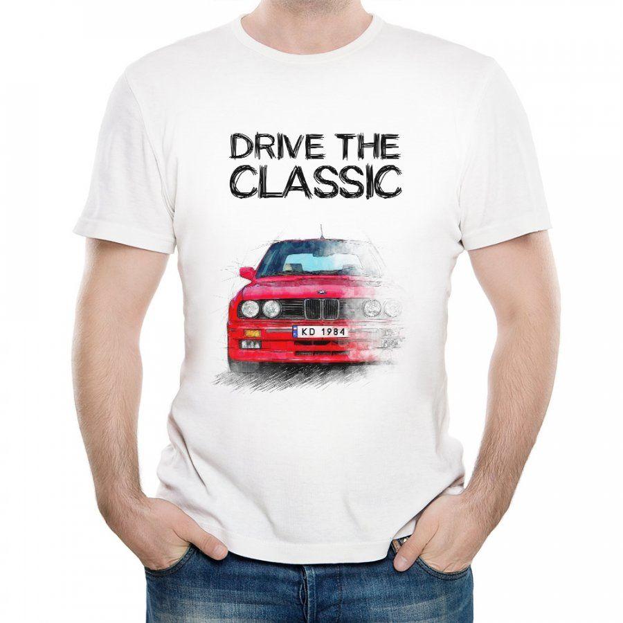Koszulka Męska z Nadrukiem fana BMW Seria 3 E30 M3