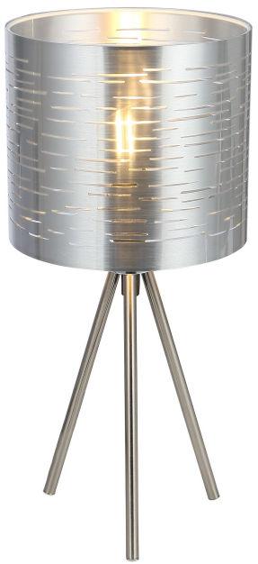 Globo MURCIA 15343T lampa stołowa srebrny metalik 1xE14 25W 17cm