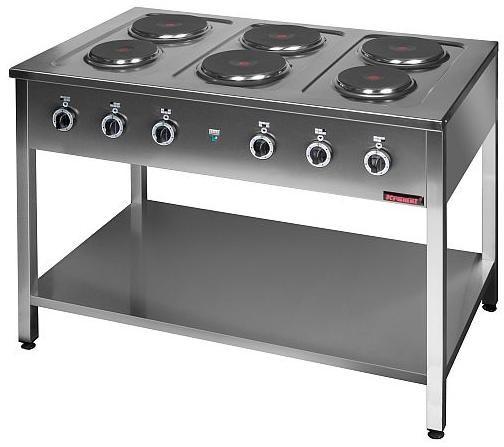 Kuchnia gastronomiczna elektryczna 6-płytowa KROMET 000.KE-6M
