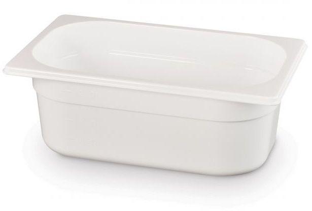 Pojemnik GN 1/4 gł. 6,5 cm z białego poliwęglanu