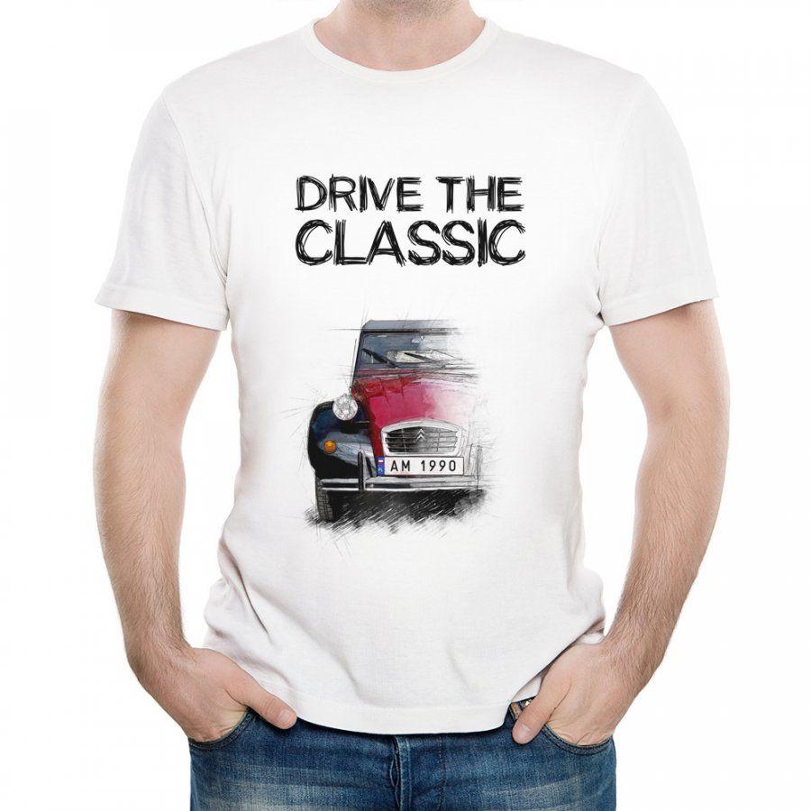 Koszulka Męska z Nadrukiem fana Citroen 2CV