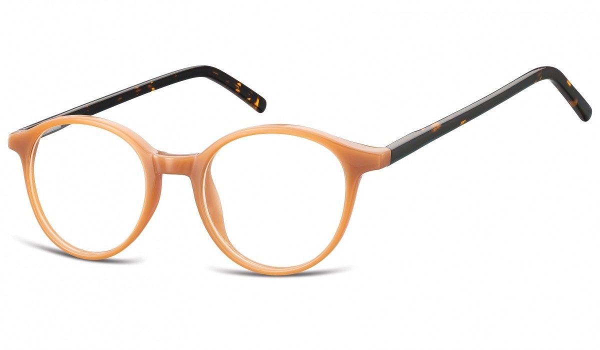 Okulary oprawki zerówki korekcyjne lenonki Unisex Sunoptic AC23F brąz + panterka
