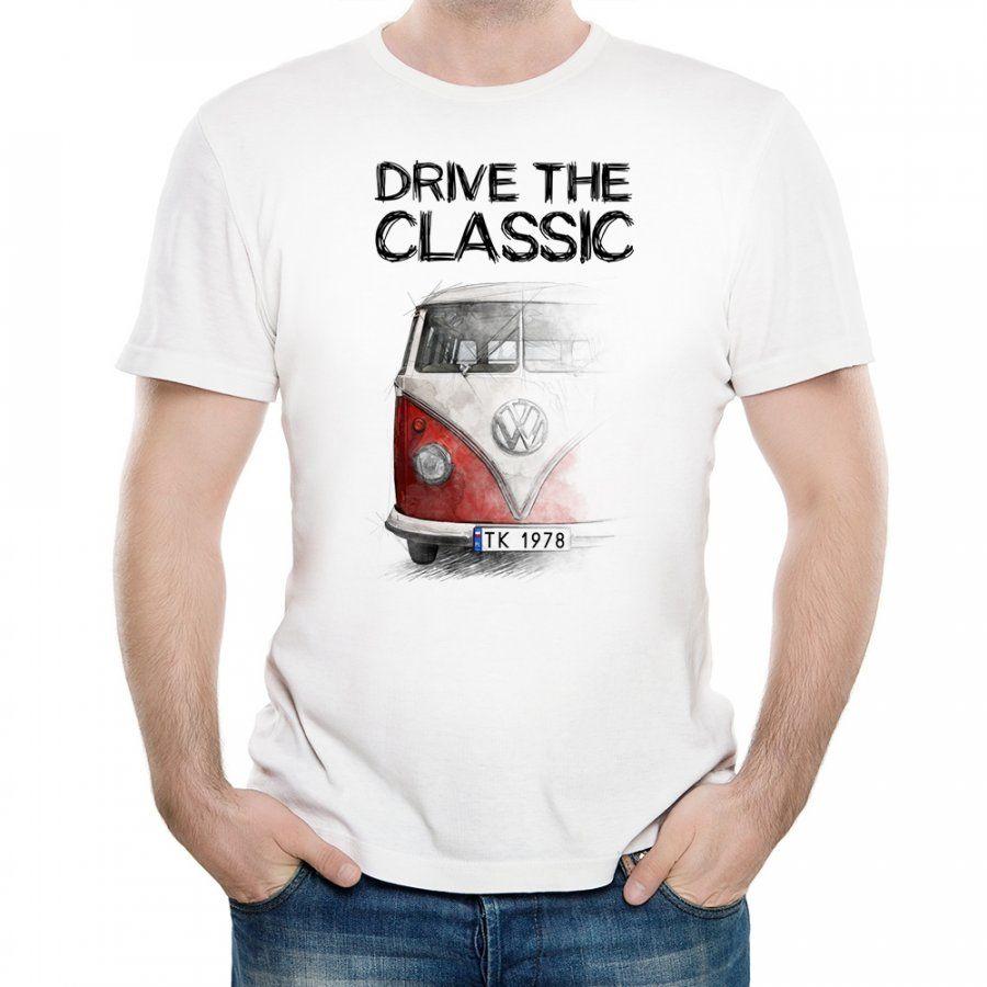 Koszulka Męska z Nadrukiem fana VW Transporter T1