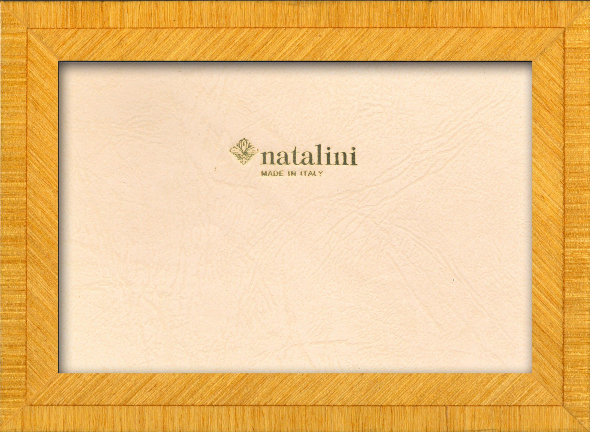 Natalini Marquetry ramka na zdjęcia wykonana we Włoszech, tulipan, żółta, 10 cm x 15 cm