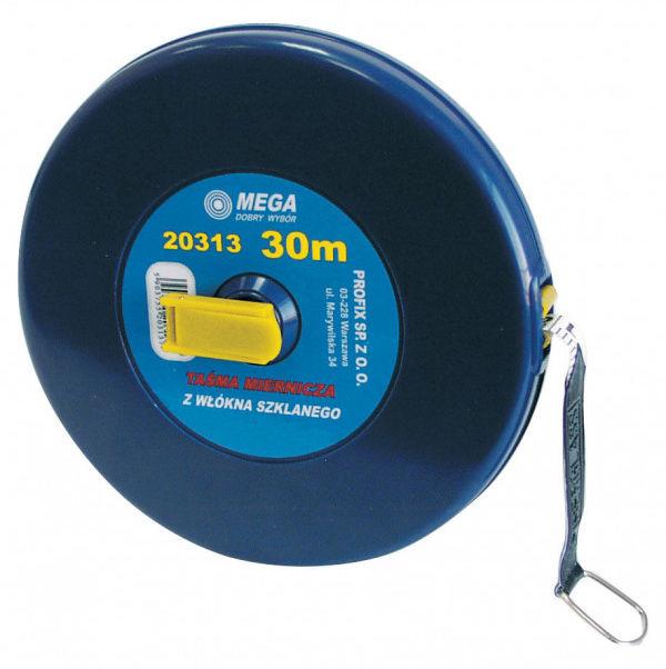 20315 Taśma miernicza z włókna szklanego 50m, Mega