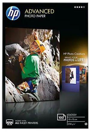 Papier HP Advanced Glossy Photo - 250g - 10x15cm - 100 szt. - Błyszczący