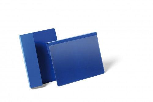 Kieszeń magazynowa wisząca A5 na palety pozioma DURABLE niebieska 50szt. 1722 07
