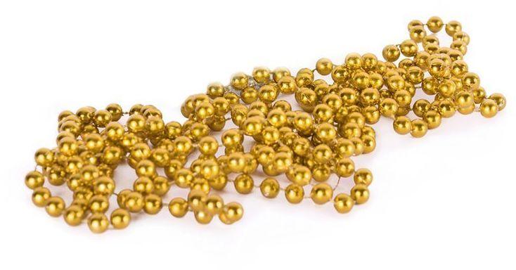 Łańcuch choinkowy koraliki girlanda złoty 270 cm 8mm BG9874ZŁO