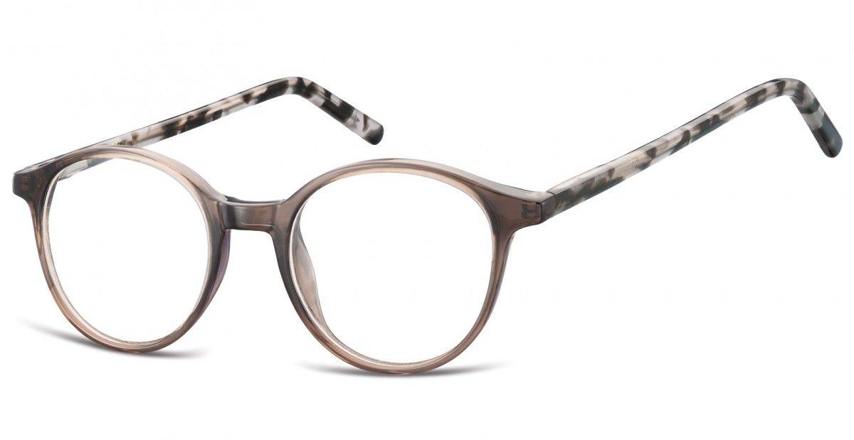 Okulary oprawki zerówki korekcyjne lenonki Unisex Sunoptic AC23H szary + szary szylkret