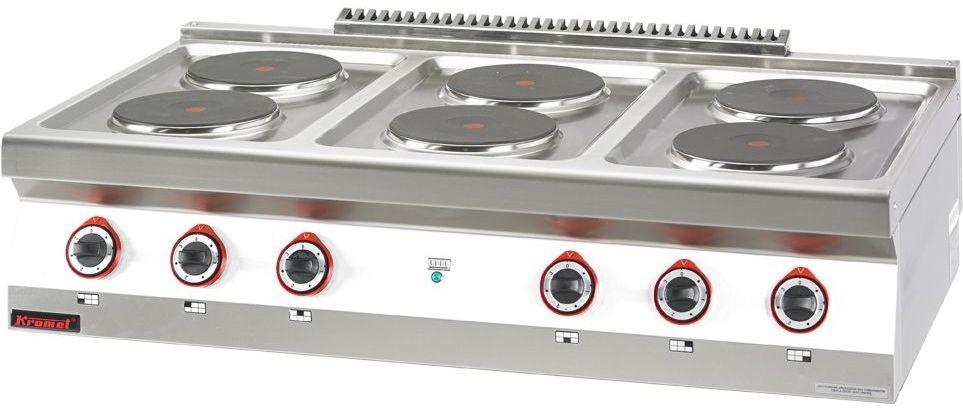 Kuchnia gastronomiczna elektryczna 6-płytowa KROMET 700.KE-6