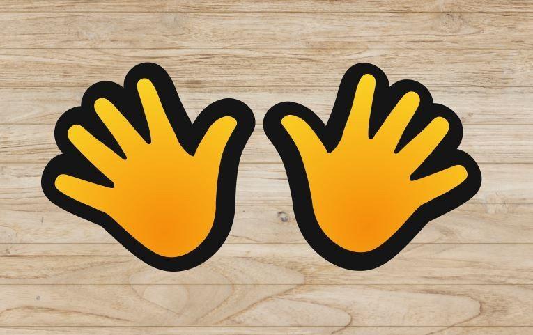 Naklejki kolorowe ręce
